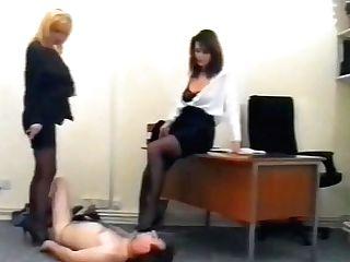 Office Damsels & Railing Mistresses Brit Female Dominance Cruella Abjected Bottom