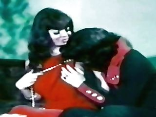 Impassioned Paramours From 1970s Make Love In Old Pornography Movie